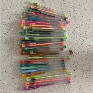 Assorted Gel Pens with REFILLS